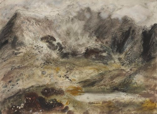 An image of Snowdon from Traeth Mawr by John Piper