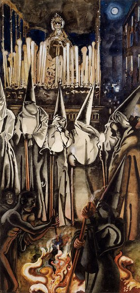An image of Holy Week: Seville by Edward Burra