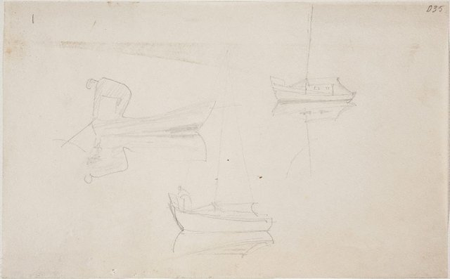 An image of (Boat studies) (Sketches from Wangi and Lake Macquarie)