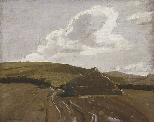 An image of The stack, Hoar's Fields by Sir William Nicholson