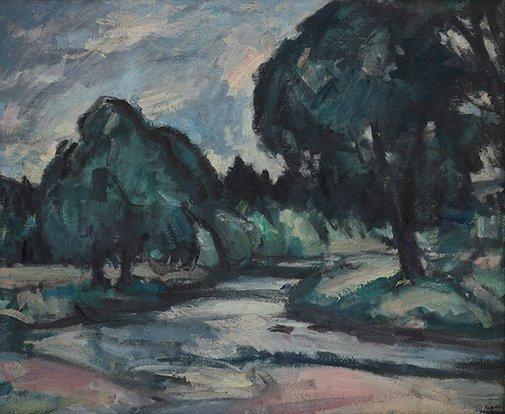 An image of Perthshire landscape (Blair Fettie) by Samuel John Peploe