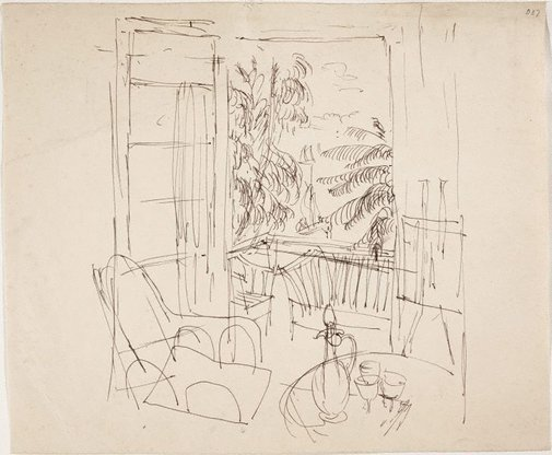 An image of (Interior) (Sketches from Wangi and Lake Macquarie) by William Dobell