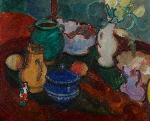 An image of Still life arrangement I by Sir Matthew Smith