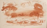Alternate image of (Camp scene) (Sketches from Wangi and Lake Macquarie) by William Dobell
