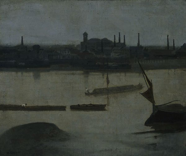 An image of A grey day, Battersea
