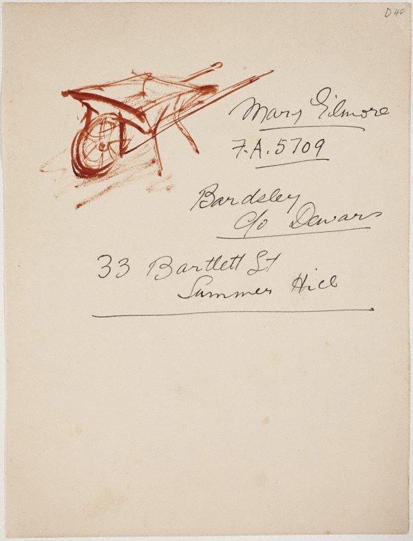 An image of (Wheelbarrow) (Sketches from Wangi and Lake Macquarie)
