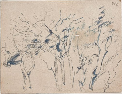 An image of (Trees) (Sketches from Wangi and Lake Macquarie) by William Dobell
