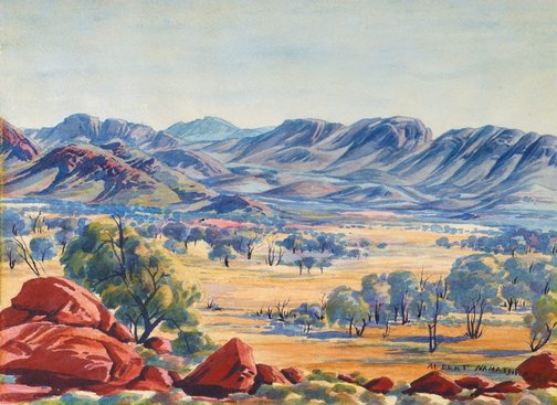 An image of North ranges looking south by Albert Namatjira