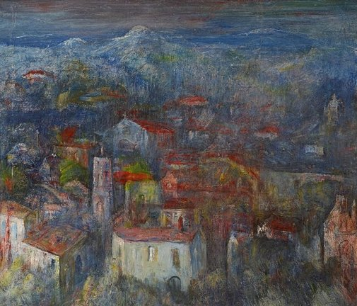 An image of Country II (Béziers) by Lloyd Rees