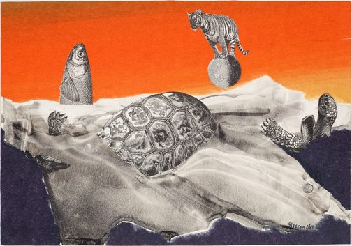 An image of Blake's Tyger in transit by James Gleeson
