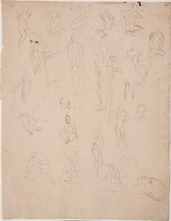 An image of (Figure studies) (Landscapes and natives from New Guinea)