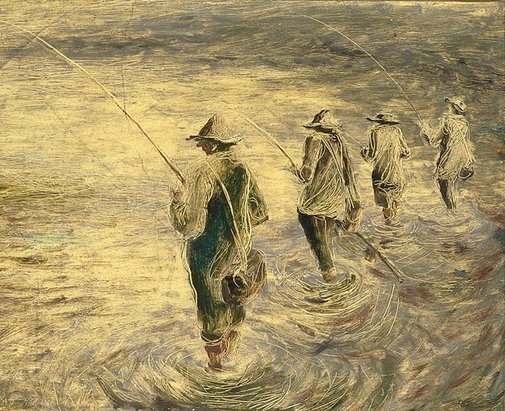 An image of Fishermen by Roderick Shaw