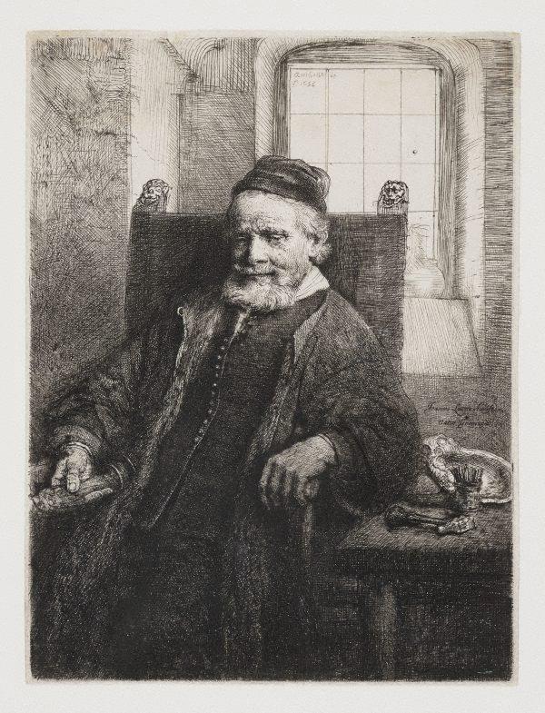 An image of Portrait of Jan Lutma, goldsmith