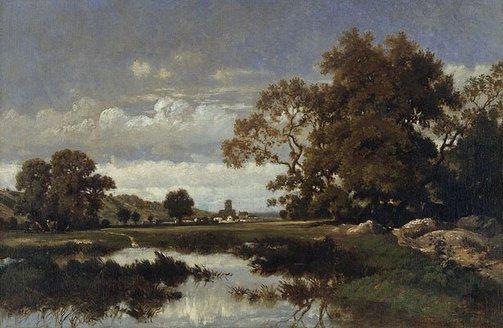An image of Barbizon landscape by Unknown, circle of J. Dupré