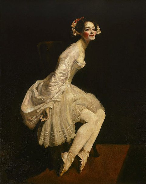 An image of Ballet dancer in costume by George W Lambert