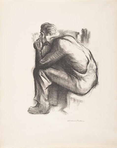 An image of A worker resting by Noel Counihan