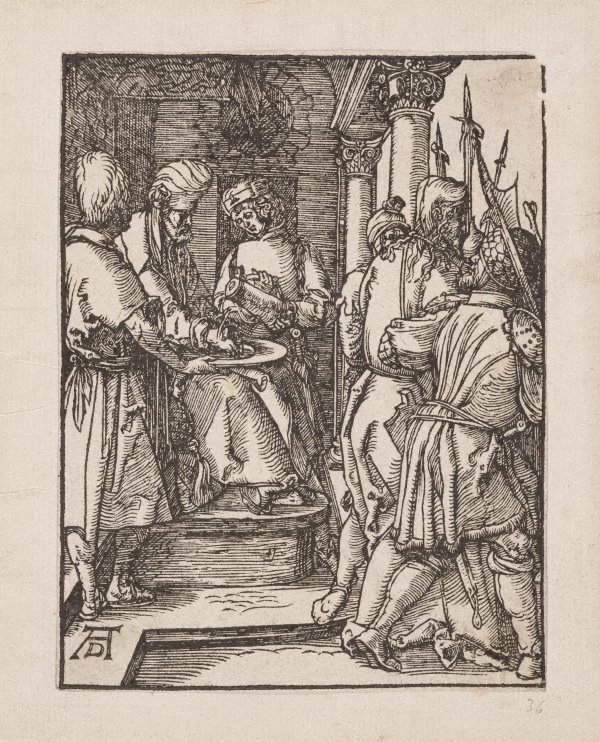 An image of Pilate washing his hands