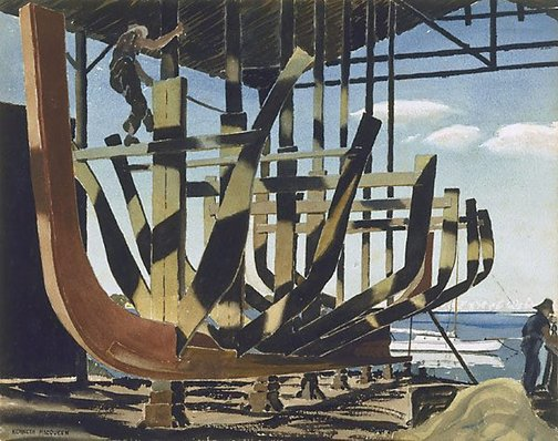 An image of The boat builders by Kenneth Macqueen