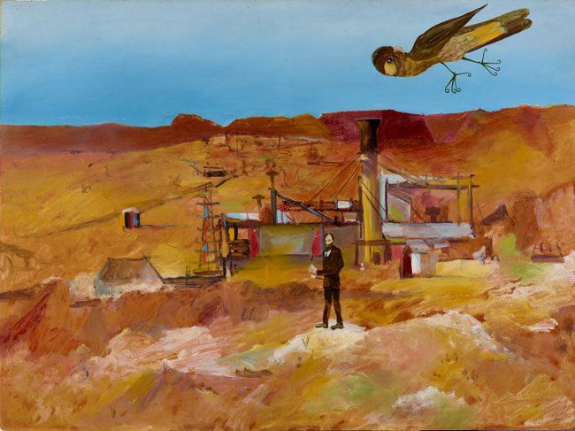 AGNSW collection Sidney Nolan Pretty Polly Mine (1948) 8169