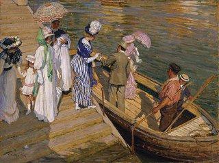 The ferry, circa 1910-circa 1911 by E Phillips Fox