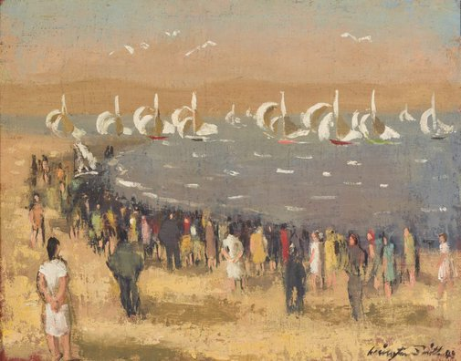 An image of Regatta, Sandy Bay by Jack Carington Smith