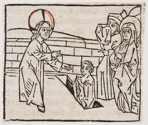 An image of The raising of Lazarus by Press of Gunther Zainer, Augsburg