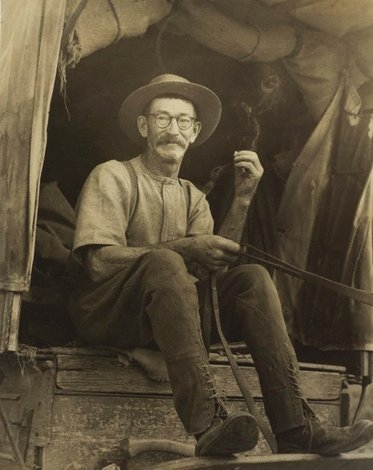 Mr Sheather, drover (near Tumut), circa 1948 by Molly Lyons