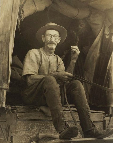 Mr Sheather, drover (near Tumut), (circa 1948) by Molly Lyons