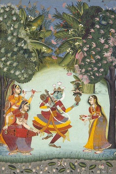 An image of Vasant ragini by Bundi school