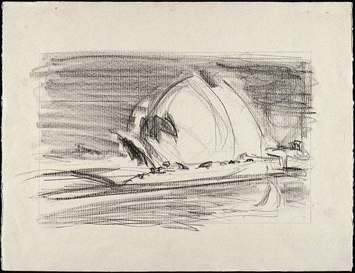 An image of Drawing for 'Sydney Opera House' by Lloyd Rees