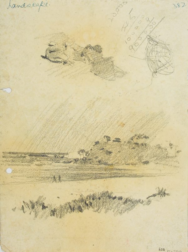 An image of recto: Reclining figures and Beachscape verso: Large rocks