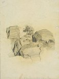 Alternate image of recto: Reclining figures and Beachscape verso: Large rocks by Lloyd Rees