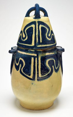 An image of Conical pot with lid by Anne Dangar