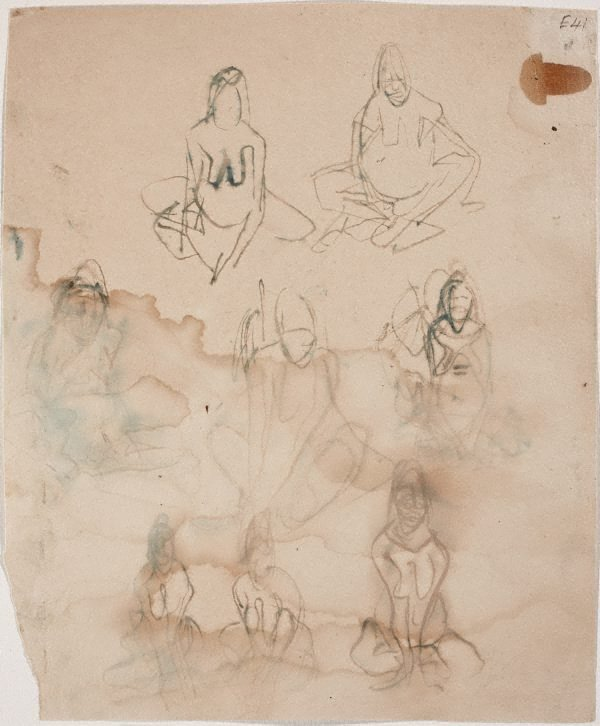 An image of (Sitting figure studies) (Landscapes and natives from New Guinea)