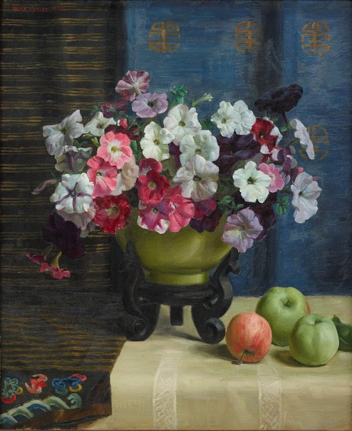 An image of Petunias by Nora Heysen
