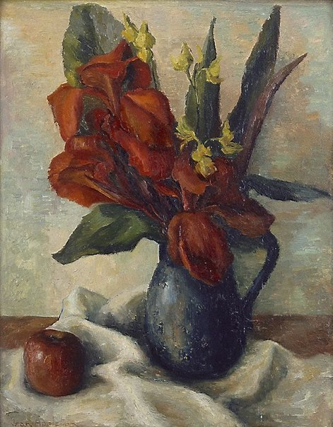 An image of Red Cannas by Jean Appleton