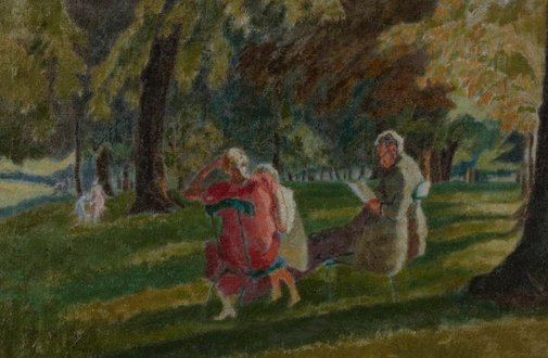 An image of Kensington Gardens by Thérèse Lessore