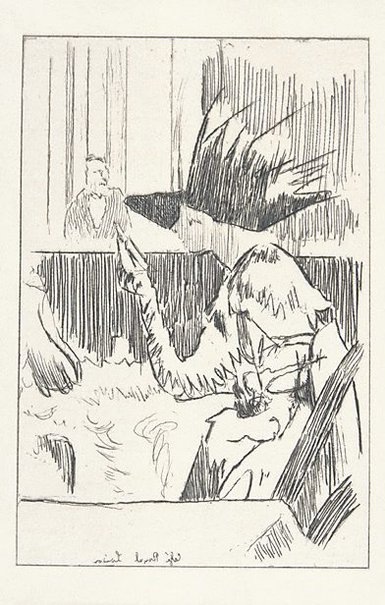 An image of The barnacle woman, Café Royal by Walter Richard Sickert