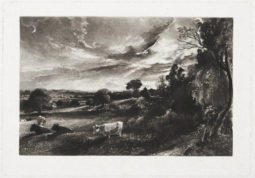 An image of Summer evening by David Lucas, after John Constable
