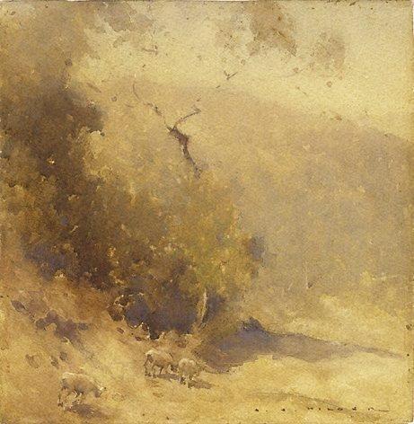 An image of Smoke haze by J J Hilder