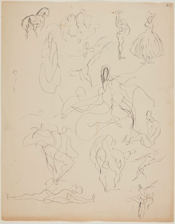 An image of Sheet of ballet sketches