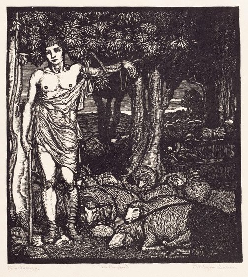 An image of The shepherd by Napier Waller