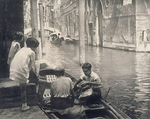 An image of A canal, Venice by George James Morris