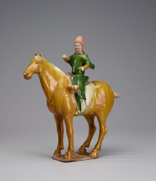 An image of Horse and rider by