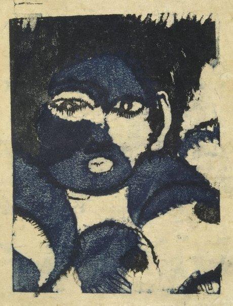 An image of A face by ONCHI Kôshirô