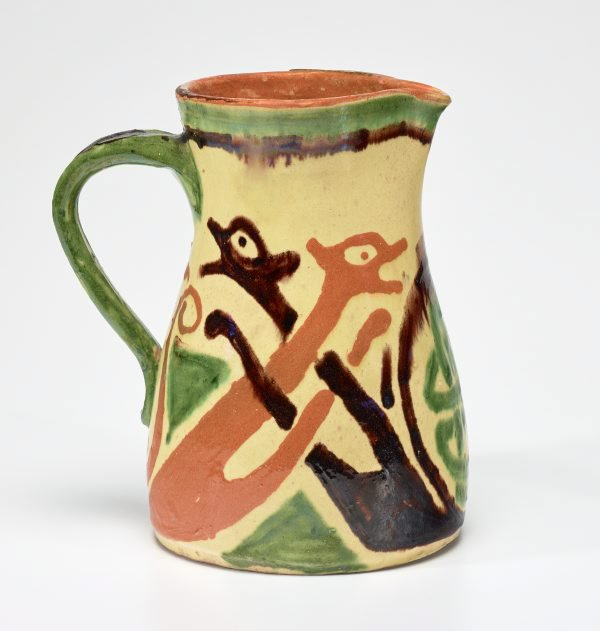 An image of Jug with design of entwined serpents