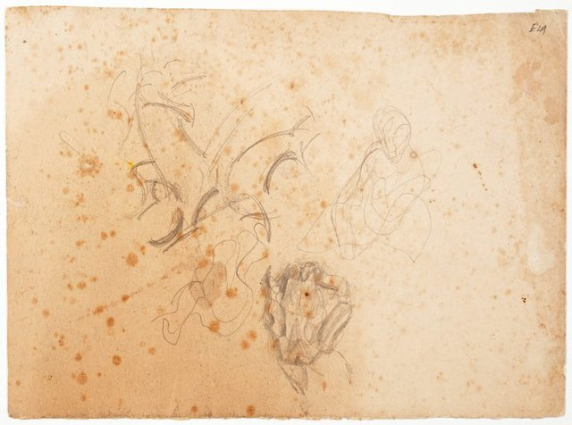 An image of (Abstract studies) (Landscapes and natives from New Guinea)