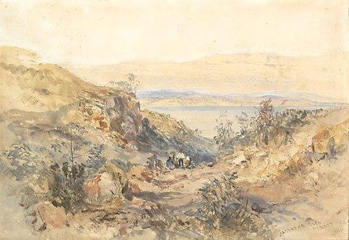An image of Salvator Glen, Hobart, Tasmania by John Skinner Prout