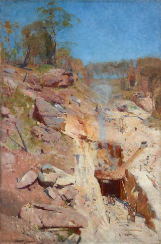 AGNSW collection Arthur Streeton Fire's on 1891