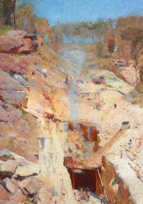 Alternate image of Fire's on by Arthur Streeton